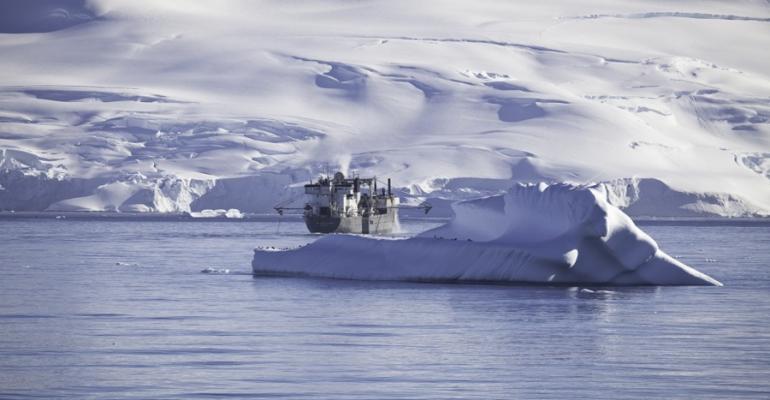 Aker fishing boat in Antarctica